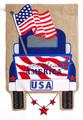 Patriotic Pick-Up Truck Garden Flag