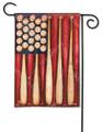 Baseball Season Garden Flag