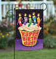 Happy Birthday Celebration Cupcake Garden Flag