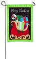 Gifts On Christmas Sleigh Garden Flag