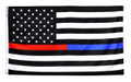 3' x 5' Thin Red & Blue Line US Flag