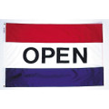 3' X 5' Open Flag with Red, White, and Blue Stripes