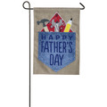 Burlap Happy Father's Day Garden Flag