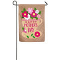 Burlap Happy Mother's Day Garden Flag