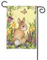Springtime Bunny Garden Flag