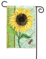 Single Sunflower Garden Flag