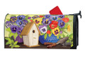 Pretty Pansies and Birdhouse Mailwrap