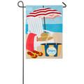 Adirondack Day Linen Garden Flag