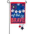 Home of the Brave Linen Garden Flag