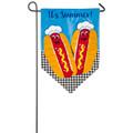 It's Summer Applique Garden Flag