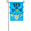 It's a Boy Applique Garden Flag
