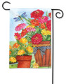 Marigolds and Zinnias Garden Flag