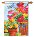 Marigolds and Zinnias Banner