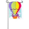 Hot Air Balloon Applique Garden Flag
