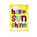 Hello Sun Shine Applique Banner