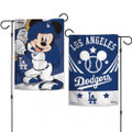 2- Sided Los Angeles Dodgers / Disney Mickey Mouse Garden Flag