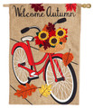 Autumn Bicycle Burlap Banner