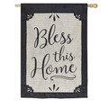 Bless This Home Burlap Banner