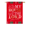 Serve the Lord Linen Banner