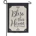 Bless This Home Burlap Garden Flag