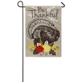 Be Thankful Burlap Garden Flag