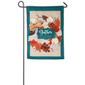 Autumn Leaves Wreath Burlap Garden Flag