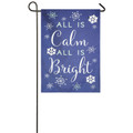 All Is Calm Linen Garden Flag