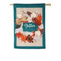 Autumn Leaves Wreath Burlap Banner