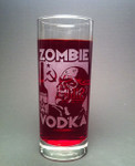 Zombie Vodka collins glass