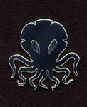 Black Cthulhu lapel pin