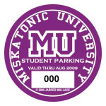 Miskatonic U. Parking Permit (STICKER)
