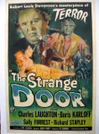 The Strange Door - Boris Karloff (canvas backed movie poster)