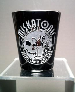 Miskatonic shot glass BK