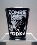 Zombie Vodka black shot glass