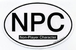 NPC non-player character Euro Oval car decal
