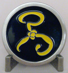 Yellow Sign Challenge Coin