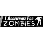 I Accelerate for Zombies (sticker)