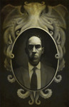 "H.P. Lovecraft print ""From This Well Madness Springs"""