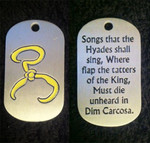 Yellow Sign Dog Tag