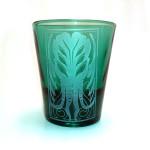Balinese style Cthulhu shot glass (green)