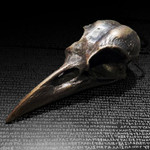 Crow Skull pendant, dark bronze