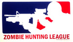 Zombie Hunting League (sticker)