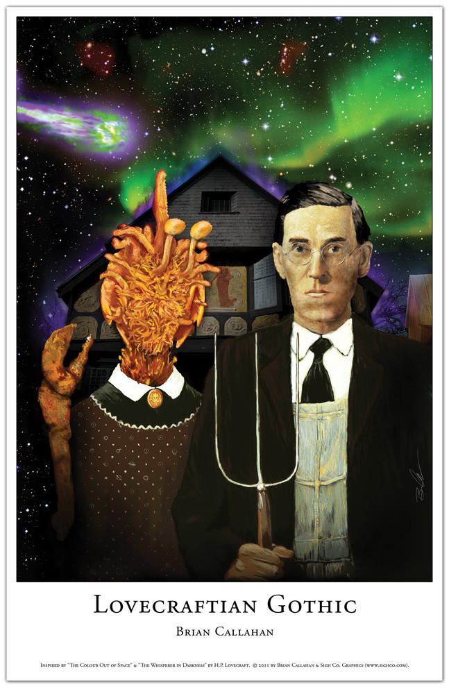 Lovecraftian Gothic art print