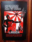 Evil Lager vintage style metal sign