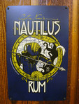 Nautilus Rum vintage metal sign