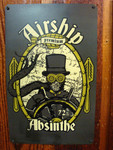 Airship Absinthe vintage style metal sign