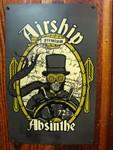 Airship Absinthe vintage style metal sign