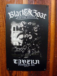 Black Goat Tavern vintage style metal sign