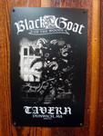 Black Goat Tavern vintage style metal sign
