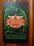 Cthulhu Absinthe vintage metal sign
